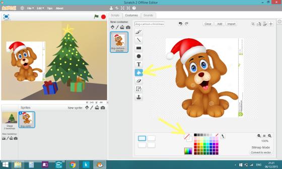 christmas scene delete image background