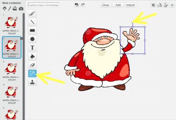 christmas scene make santa wave edit costume